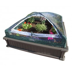 Lifetime Raised Garden Bed Kit (2 Beds, 1 Vinyl Enclosure) 60053