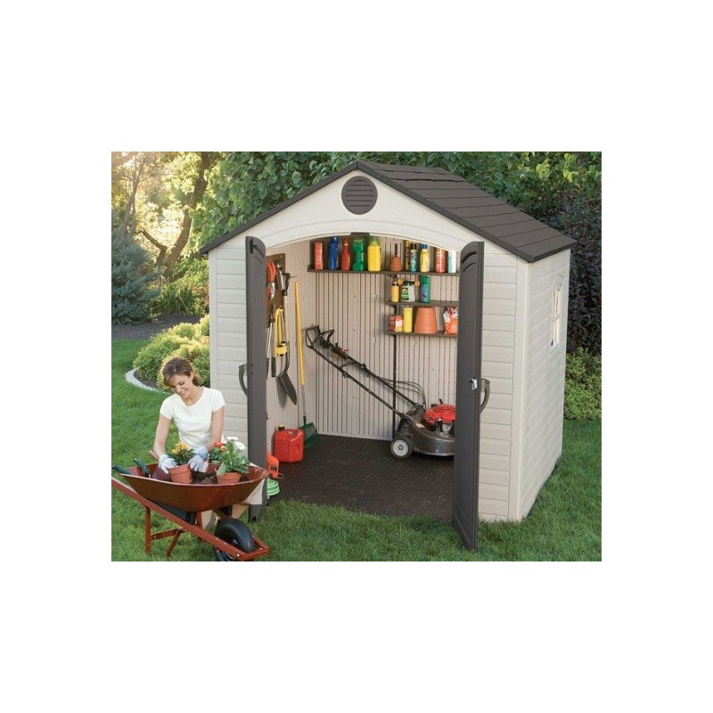 Lifetime 8x5 Storage Shed Kit with Window (6406)