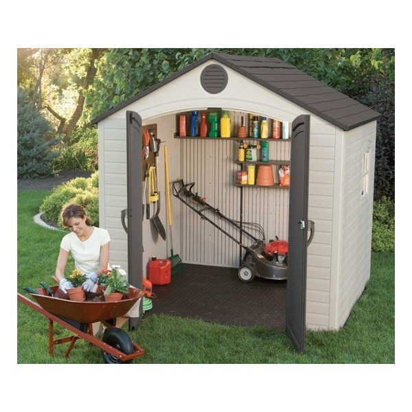 Lifetime 8x7 5 ft Plastic Outdoor Storage Shed Kit (6411)