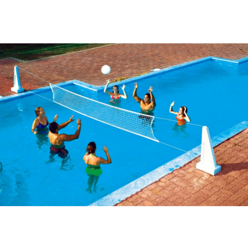 Blue Wave Pool Jam In-Ground Volleyball & Basketball Combo (NT200)