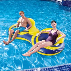Blue Wave 2-Person Inflatable Cooler Tube (NT1757)