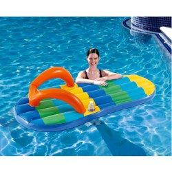 Blue Wave Beach Striped Flip Flop 71-in Inflatable Pool Float (NT1773)