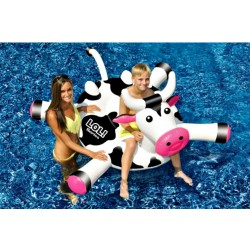 Blue Wave LOL 54 In. Cow Inflatable Ride-On Pool Toy (NT2868)