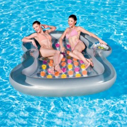 Blue Wave Double Designer Inflatable Pool Lounge Float (NT1371)