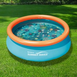 Blue Wave 3D Fast Set Round Family Pool - 7-ft (NT5007)