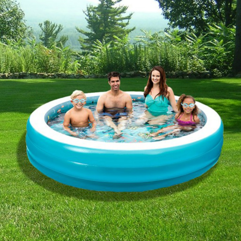 Blue Wave 3D Inflatable 7.5-ft Round Family Pool (NT5058)