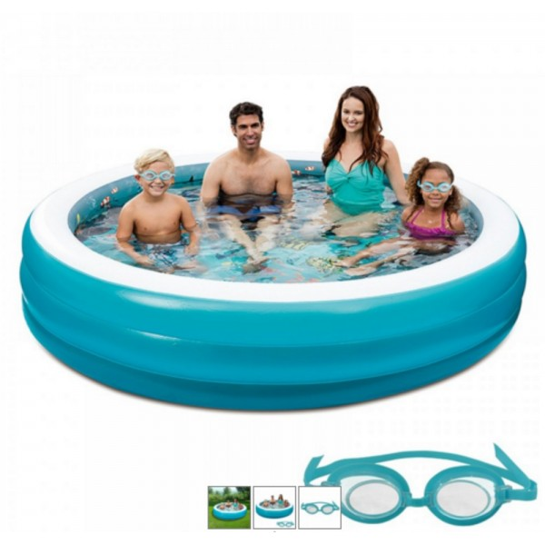 Blue Wave 3d Inflatable 7 5 Ft Round Family Pool Nt5058