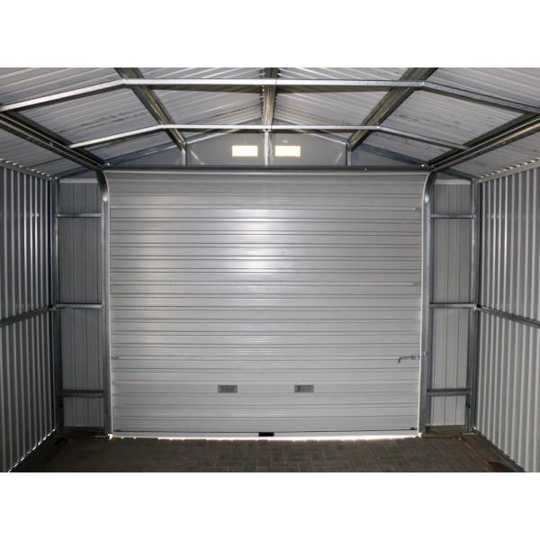 12x20 Shed Garage : Duramax gray metal storage garage building kit