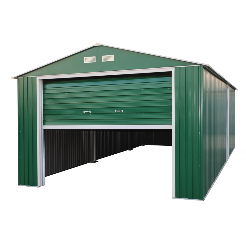 DuraMax 12x26 Imperial Steel Storage Garage Kit - Green (55161)
