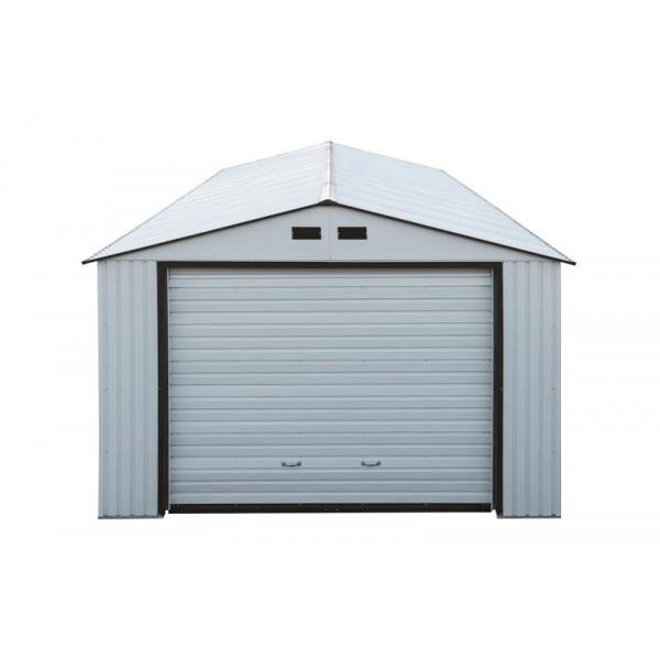 White Metal Garage : Duramax imperial steel storage garage kit white