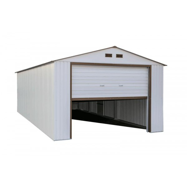 Box Truss Carport : Duramax imperial steel storage garage kit white