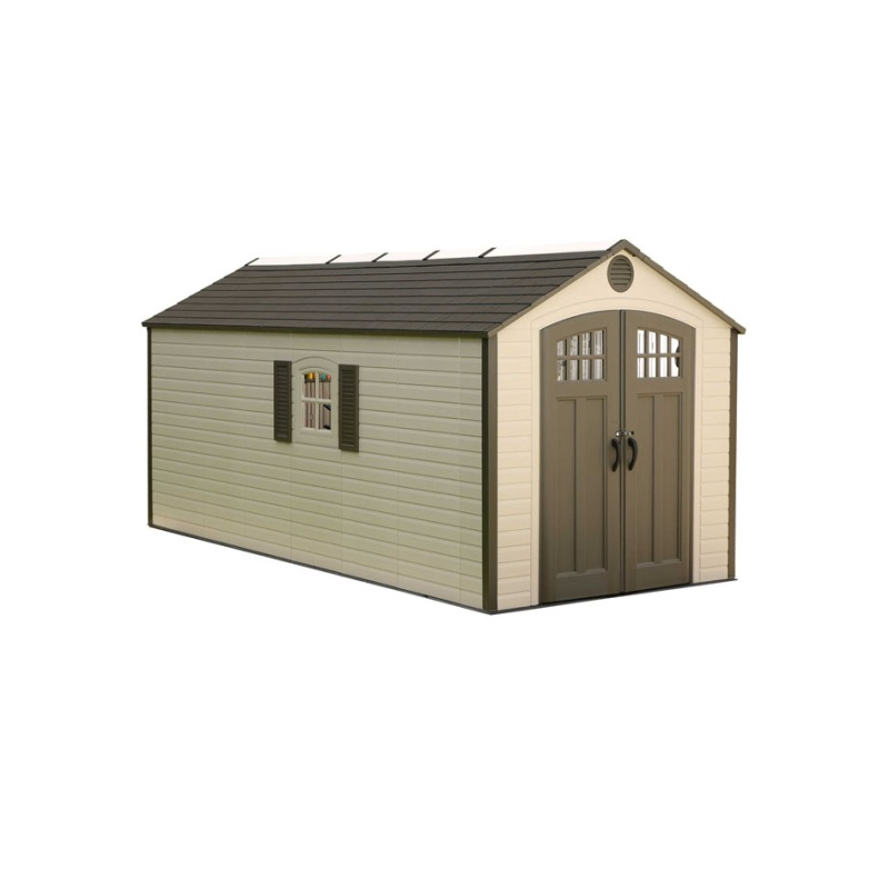 Lifetime 8 X 17.5 Ft Outdoor Storage Shed w/ 2 Windows (60121)