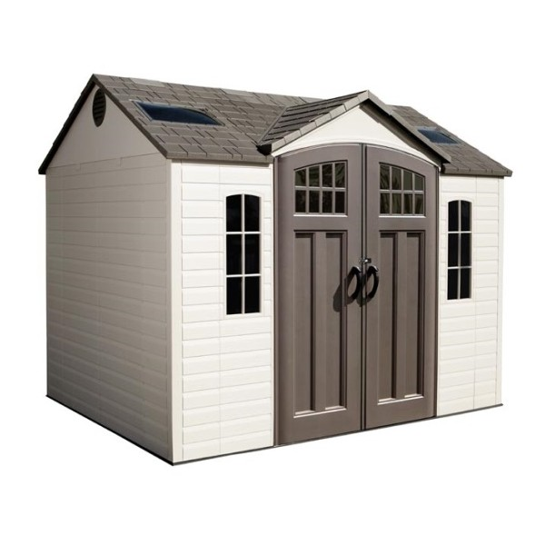 Lifetime 10x8 side entry storage shed w floor 60095 for 10 x 8 metal shed with floor