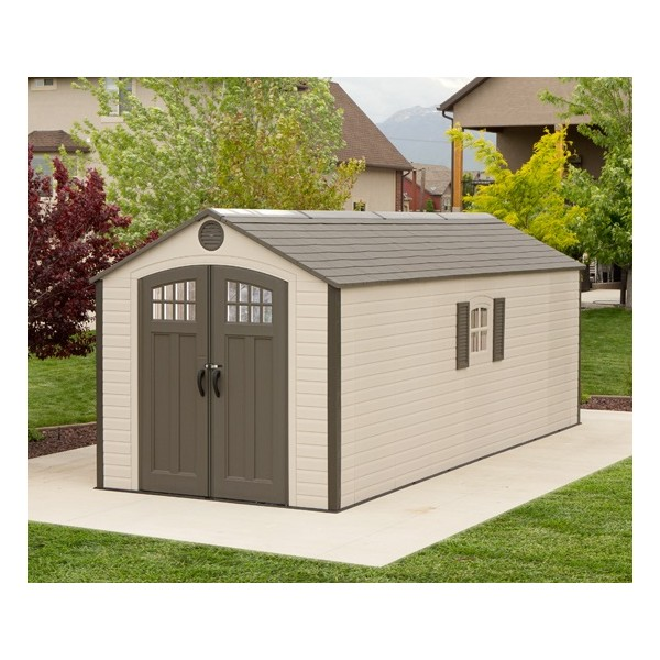 Lifetime Sheds 8x20 Plastic Storage Shed W 2 Windows 60120