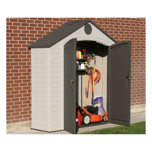 Storage Shed Ramps >> Lifetime 8x2.5 ft Plastic Storage Shed Kit (6413)