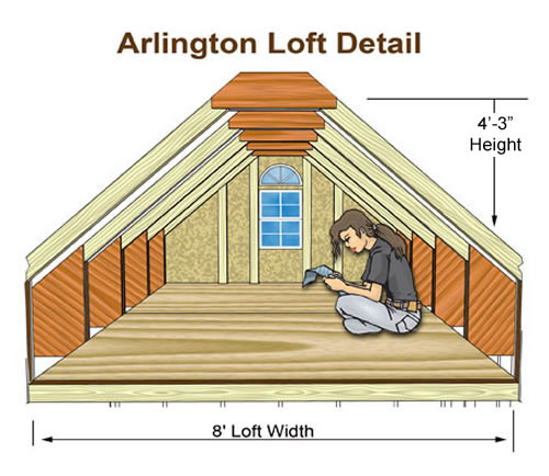 Arlington 12x24 Wood Storage Shed Kit Arlington 1224