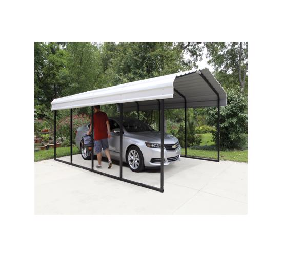 Arrow 12x20x7 Steel Carport Kit (CPH122007) - Ideal Shade and shelter for vehicles
