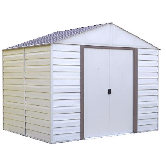 Arrow Vinyl Milford 10x8 Storage Shed Kit (VM108) -  Great for backyads or patio.
