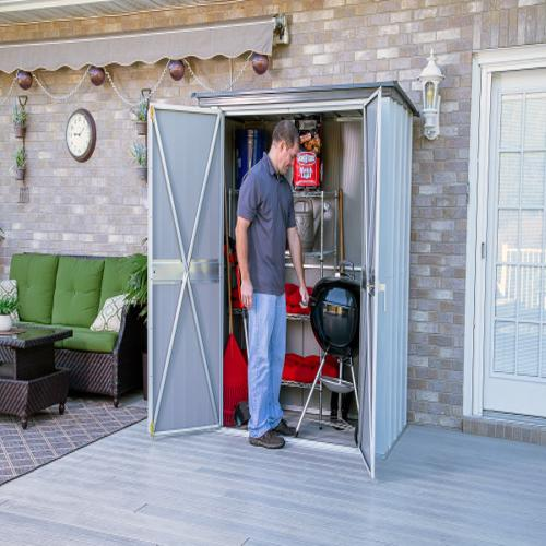 Arrow 5x3 Spacemaker Storage Shed Kit (PS53) Perfect for storing your cushions, lawn and garden tools.
