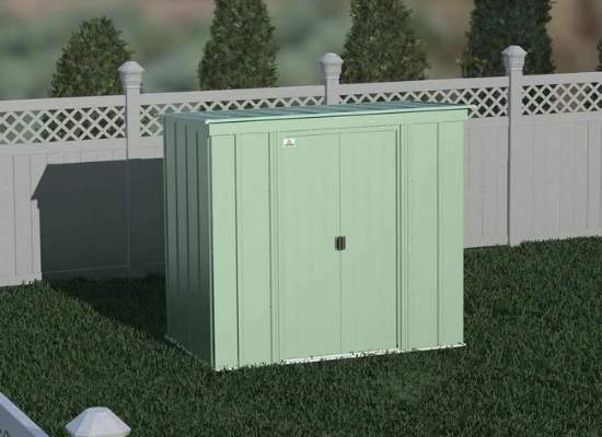 Arrow 6x4 Classic Steel Storage Shed Kit - Sage Green (CLP64SG) This 6x4 Classic shed, will definitely help you with your storage problem.