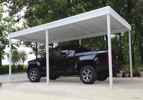 Arrow 10x10 Free Standing Carport Kit (CP1010 Protects your vehicle from the weather elements.