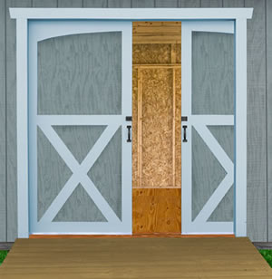 Best Barns Arlington 12x20 Wood Storage Shed Kit (arlington_1220) Pocket Door