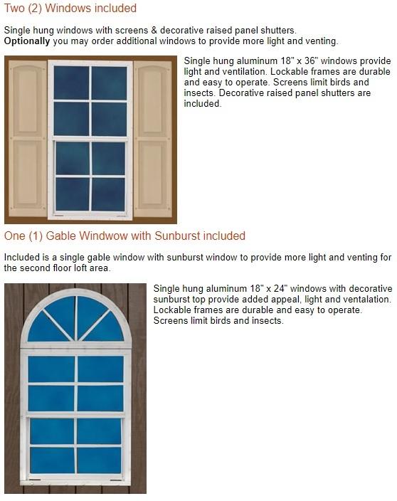 Best Barns Arlington 12x20 Wood Storage Shed Kit (arlington_1220) Optional Windows
