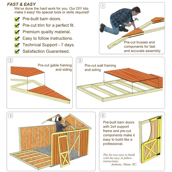 Best Barns 12x16 Wood Storage Shed Kit (brandon_1216) DIY Assembly No Skill Required