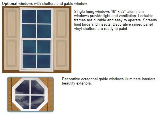 Best Barns 12x16 Wood Storage Shed Kit (brandon_1216) Optional Windows