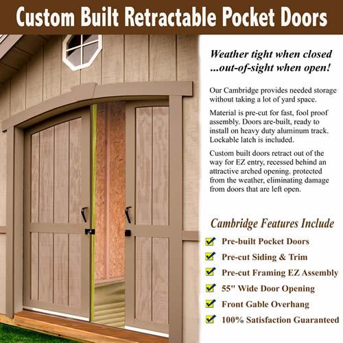 Best Barns Cambridge 10x12 Wood Storage Shed Kit (cambridge1012) Door Information