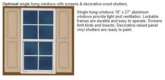 Best Barns Cypress 12x10 Wood Storage Shed Kit (cypress_1210) Optional Window