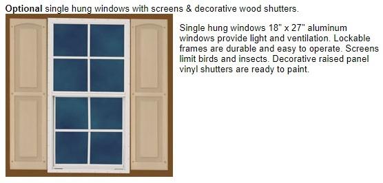 Best Barns Denver 12x16 Wood Storage Shed Kit (denver_1216) Optional Window