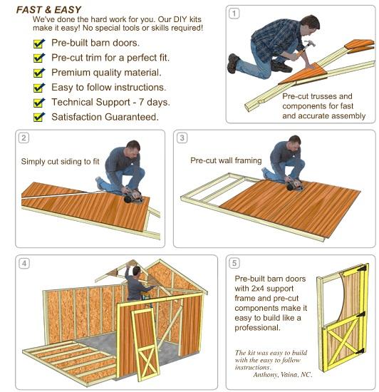 Best Barns Glenwood 12x16 Wood Storage Garage Kit (glenwood_1216) DIY Assembly No Skills Required