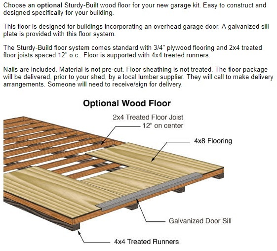 Best Barns Glenwood 12x16 Wood Storage Garage Kit (glenwood_1216) Optional Floor