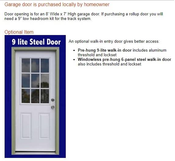 Best Barns Greenbriar 12x20 Wood Garage Shed Kit - All Pre-Cut (greenbriar_1220) Optional Walk-In Door