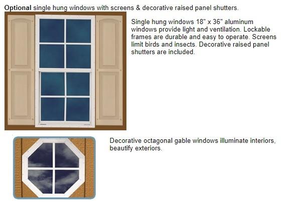 Best Barns Greenbriar 12x20 Wood Garage Shed Kit - All Pre-Cut (greenbriar_1220) Optional Windows