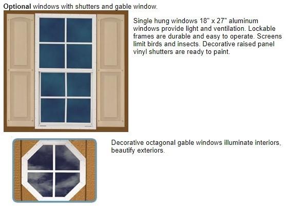 Best Barns Manfield 12x12 Wood Storage Shed Kit (mansfield_1212) Optional Windows