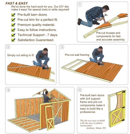 Best Barns Meadowbrook 16x10 Wood Storage Shed Kit (meadowbrook_1016) DIY Assembly No Skill Required