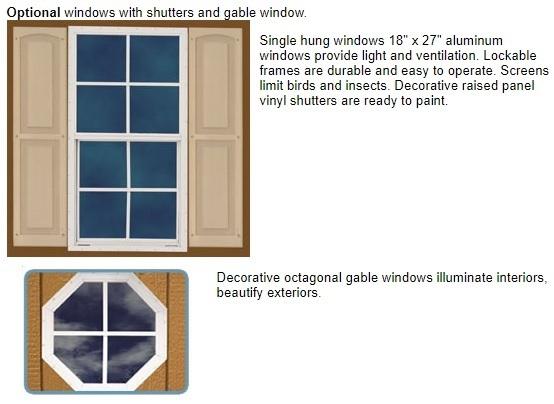 Best Barns North Dakota 12x20 Wood Storage Shed Kit (northdakota_1220) Optional Windows