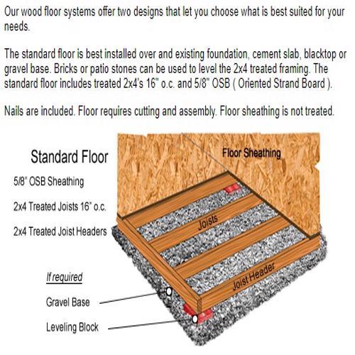 Best Barns Regency 8x12 Wood Storage Shed Kit (regency_812) Optional Wood Floor Kit