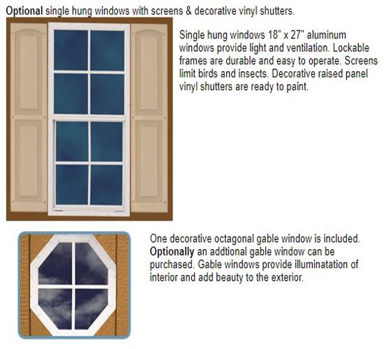 Best Barns Regency 8x12 Wood Storage Shed Kit (regency_812) Optional Windows