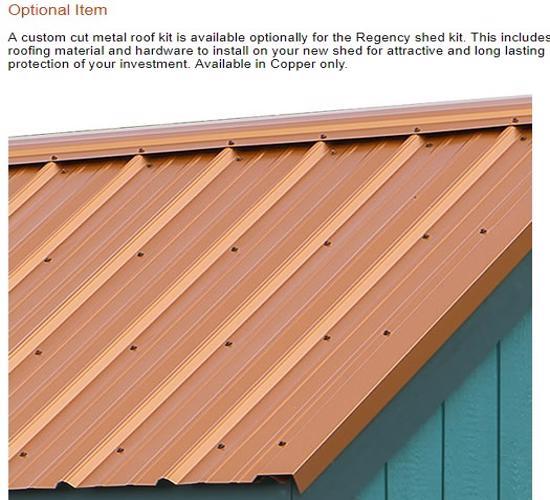 Best Barns Regency 8x12 Wood Storage Shed Kit (regency_812) Optional Metal Roof Kit