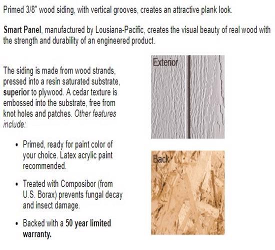 Best Barns Regency 8x12 Wood Storage Shed Kit (regency_812) Siding Material