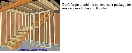 Best Barns Richmond 16x32 Wood Storage Shed Kit (richmond1632) Optional Stairs
