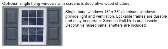 Best Barns Richmond 16x32 Wood Storage Shed Kit (richmond1632) Optional Windows