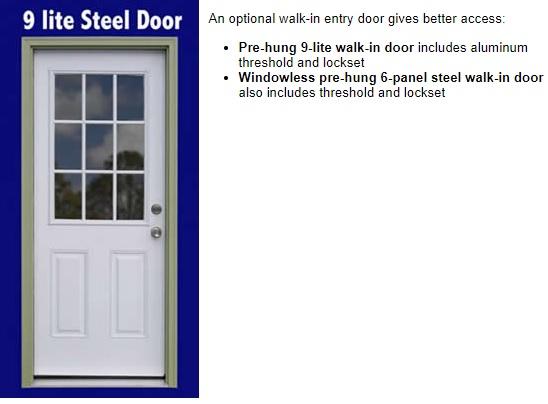 Best Barns Roanoke 16x20 Wood Storage Shed Kit (roanoke1620) Optional Doors
