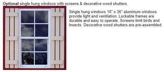 Best Barns Roanoke 16x20 Wood Storage Shed Kit (roanoke1620) Optional Windows