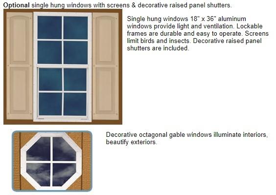 Best Barns Sierra 12x20 Wood Storage Garage Shed Kit - ALL Pre-Cut (sierra_1220) Optional Windows