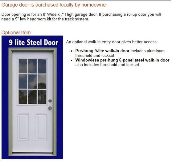 Best Barns Sierra 12x24 Wood Storage Garage Shed Kit - ALL Pre-Cut (sierra_1224) Optional Walk-In Door