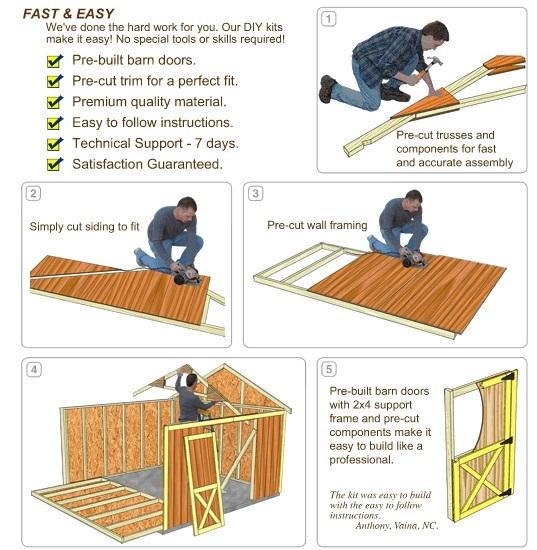 Best Barns South Dakota 12x20 Vinyl Siding Wood Shed Kit (southdakota_1220) DIY Assembly No Skills Required